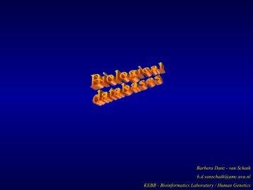 Selection of database - Bioinformatics Laboratory