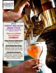 The 2009 Great Belgian Beer Tour - Ciao! Travel