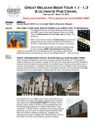 Great Belgian Beer Tour 1.1 - 1.3 & Ultimate Pub Crawl - Ciao! Travel