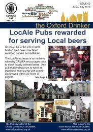 Issue 62, June/July 2010 - Oxford CAMRA