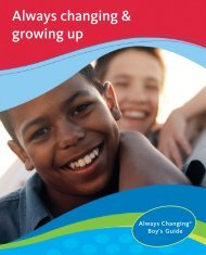 Always changing & growing up - P&G School Programs
