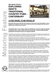 Touring Kents Country Pubs - Canterbury - Car & Driving