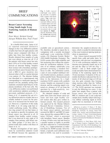 Breast Cancer Screening Using Small-Angle X-ray Scattering ...