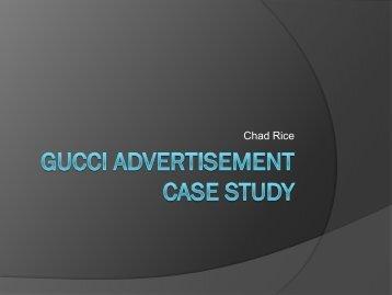 Gucci Advertisement Case Study