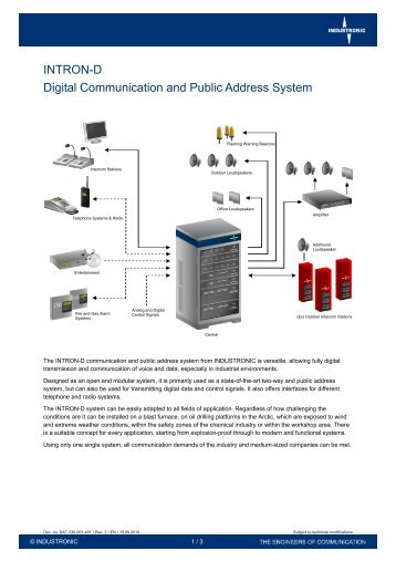 INTRON-D Digital Communication and Public Address ... - Industronic