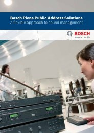 Commercial Brochure Plena PA Solutions - Bosch Security