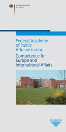 Federal Academy of Public Administration Competence for Europe ...