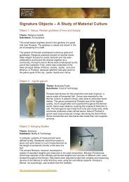 Journey to Pompeii - Signature Objects notes - Museum Victoria