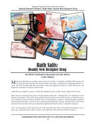 Bath Salts: - Public Intelligence