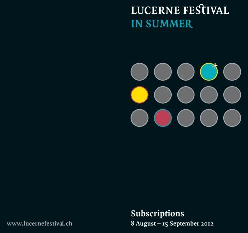 Tailored for Individualists! - Lucerne Festival