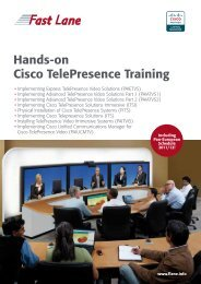 Hands-on Cisco Telepresence Training - Fast Lane