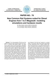 PAPER NO.: 70 New Common Rail Systems ... - Ganser CRS AG