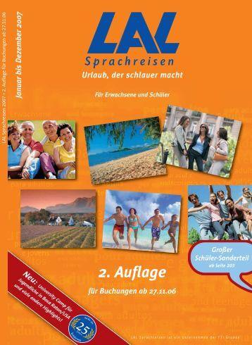 2. Auflage - Sprachreisen