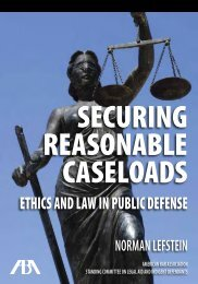 Securing Reasonable Caseloads - American Bar Association