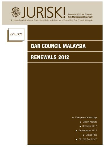 BAR COUNCIL MALAYSIA RENEWALS 2012 - JLT Interactive