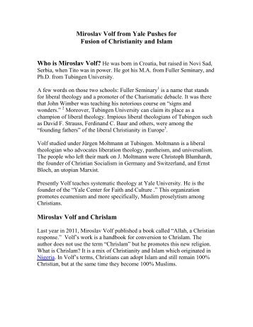 yale miroslav volf essay Volf, miroslav after our likeness: the church as the image of the trinity sacra doctrina grand rapids, mi: william b eerdmans, 1998 the author professor volf is the founding director of the yale center for faith and culture.