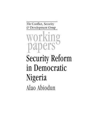 electoral reform in nigeria problems and The obama administration has been supportive of reform initiatives in nigeria economic and electoral reforms nigeria: current issues and us policy.