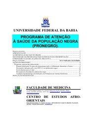 programa de atenção à saúde da população negra - Faculdade de ...