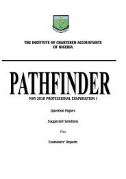 THE INSTITUTE OF CHARTERED ACCOUNTANTS OF NIGERIA ...
