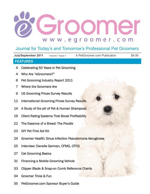 Journal For Today S And Tomorrow S Professional Pet Groomers