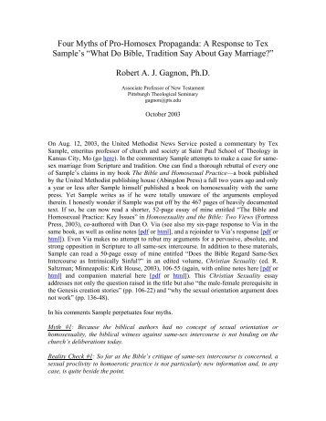 Jacob milgrom homosexuality and christianity