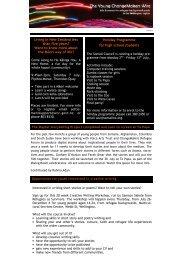 YC Wire July 2012 - ChangeMakers Refugee Forum