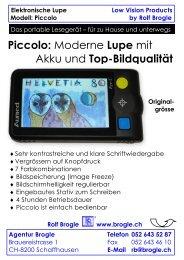 Piccolo: Moderne Lupe mit Akku und Top-Bildqualität - Agentur Brogle