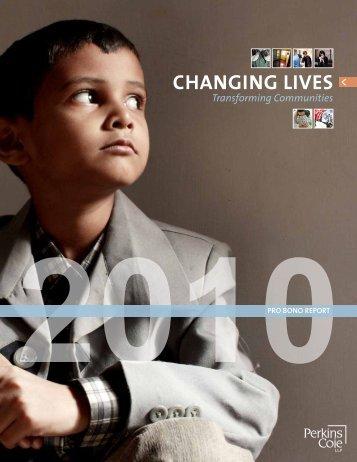 2010 Pro Bono Annual Report - Perkins Coie
