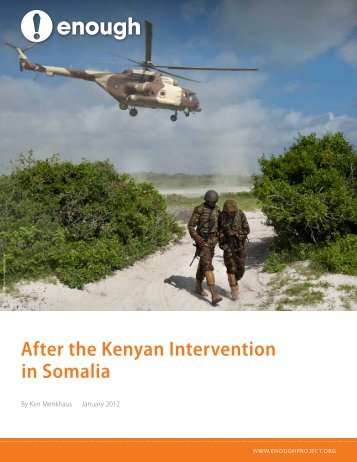 After the Kenyan Intervention in Somalia - Enough Project