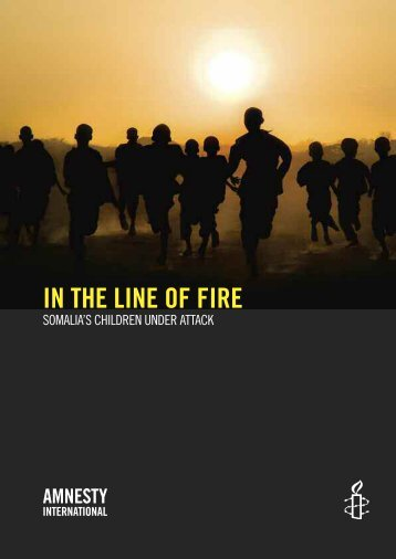 Amnesty International, In the line of fire - Global Coalition to Protect ...
