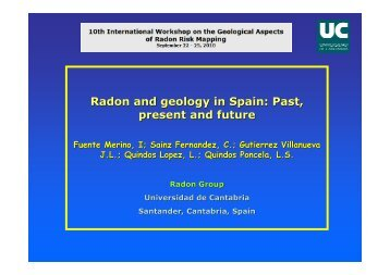 Radon and geology in Spain