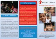 Our Work in the Region Who we are Save the Children Sweden