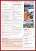 A guide to driving in SWITZERLAND - Tispol - Page 2
