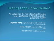Hearing Loops in Switzerland - Hearing Loss Association of America