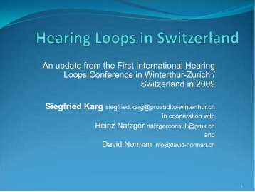 Hearing Loops in Switzerland - Hearing Loss Association of America