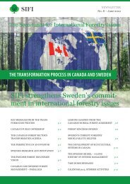 SIFI strengthens Sweden's commit- ment in international forestry ...