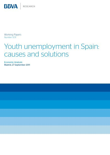youth unemployment in spain causes and solutions