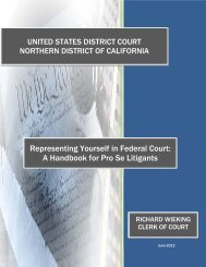 Representing Yourself in Federal Court - United States District Court ...