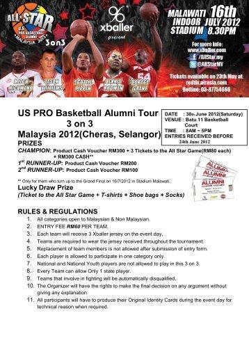 US PRO Basketball Alumni Tour 3 on 3 Malaysia 2012(Cheras ...