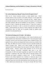 Cultural Diplomacy and the Debate on Turkey's Accession to the EU