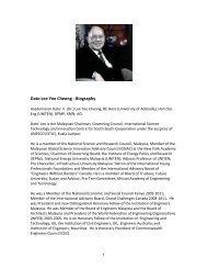 Dato Lee Yee Cheong - Biography - Alumni and Community