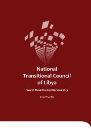 National Transitional Council of Libya - World Model United Nations