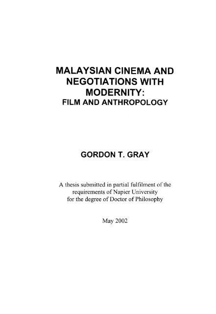 n cinema and negotiations modernity