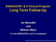 ENDEAVOR I and II Clinical Program