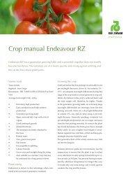 Crop manual Endeavour RZ