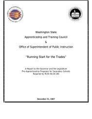 Running Start for the Trades - Washington State Legislature
