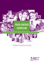 YOUTH-CENTERED COUNSELING - PAHO/WHO