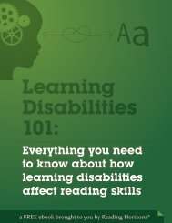 Learning Disabilities 101 - Reading Horizons