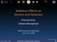 Radiation Effects on Sensors and Detectors