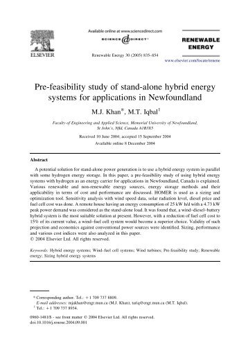 The feasibilty study of a stand alone